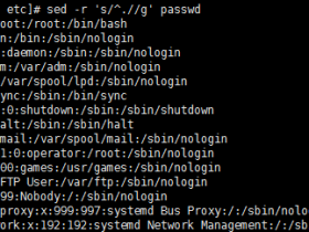 Linux基础-sed+正则表达式
